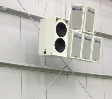 commercial audio system installation